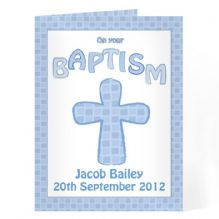 Baptism Card Blue